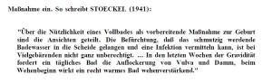 Zum Vergrößern anklicken. Aus S. 7 der Dissertation: von der Leyen setzte auch direkte Zitate unter Anführungszeichen ein. Sie kannte also auch diese Technik. Warum an zahlreichen anderen Stellen nicht?